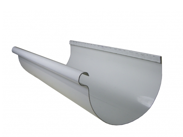 white-aluminum-half-round